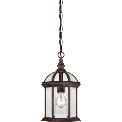 "Nuvo Lighting Boxwood 1 Light 14"" Outdoor Hanging with Clear Beveled Glass 60/4978"