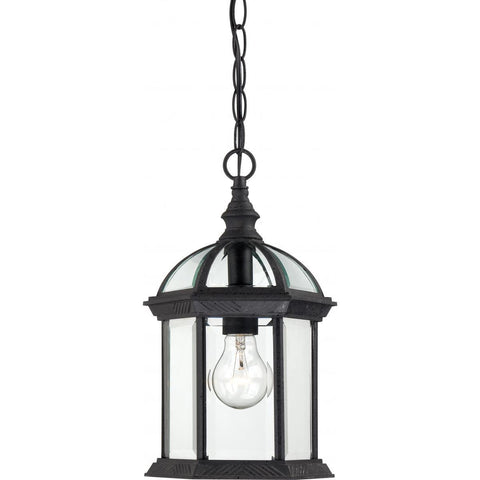 "Nuvo Lighting Boxwood 1 Light 14"" Outdoor Hanging with Clear Beveled Glass 60/4979"