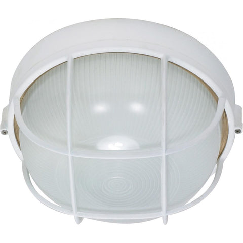 "1 Light 10"" Round Cage Bulk Head Die Cast Bulk Head"