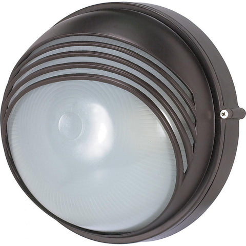"Nuvo Lighting 1 Light 10"" Round Hood Bulk Head Die Cast Bulk Head 60/521"