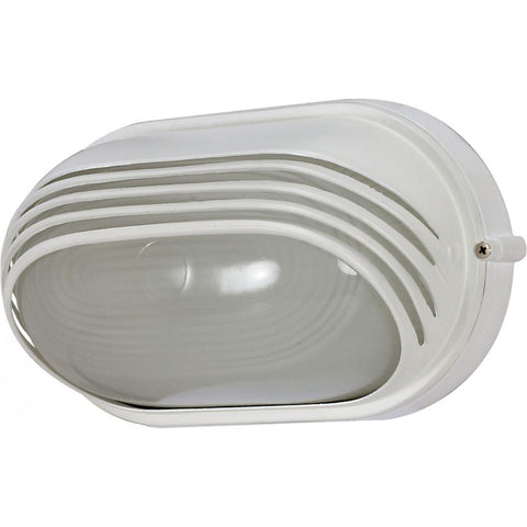 "1 Light 10"" Oval Hood Bulk Head Die Cast Bulk Head"