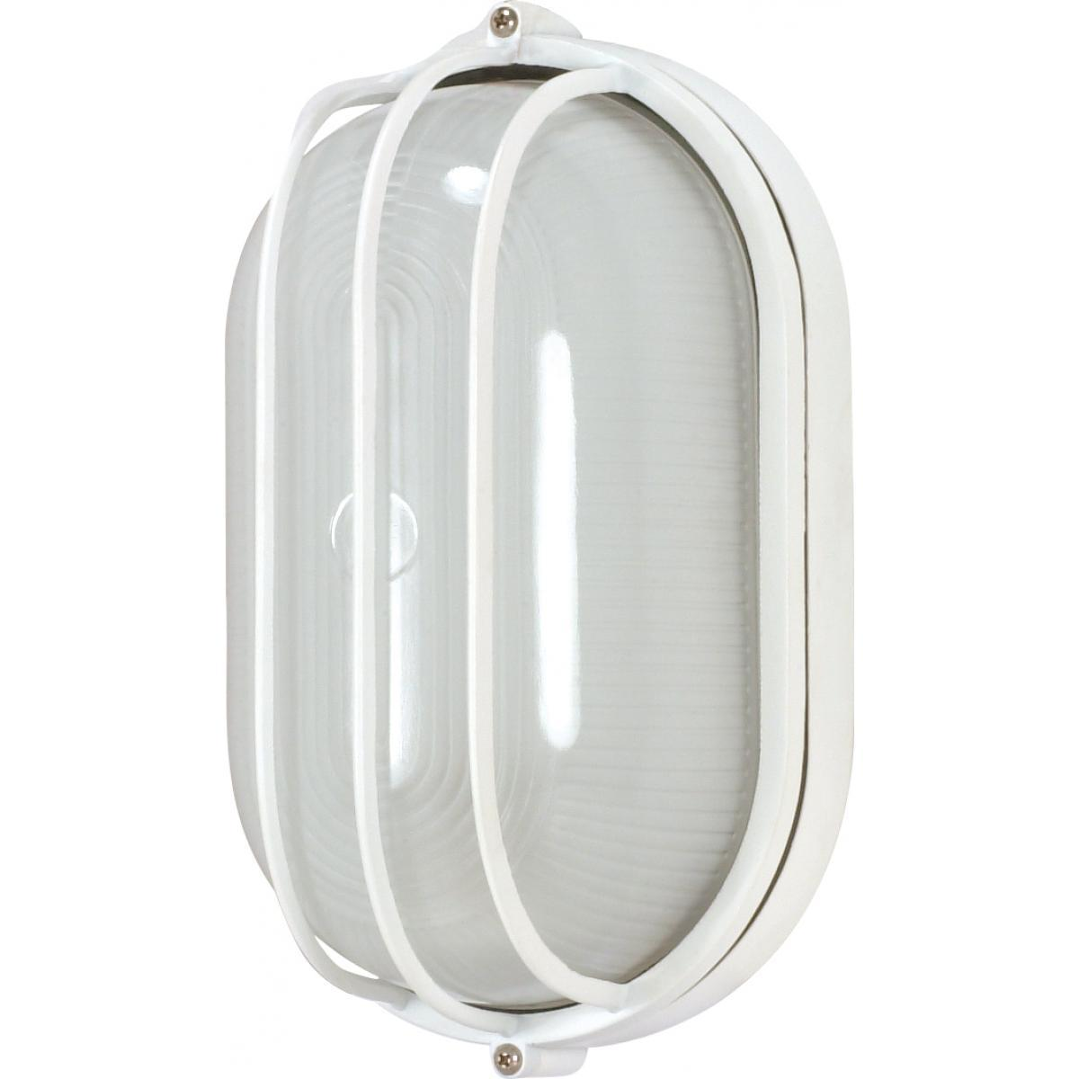 "Nuvo Lighting 1 Light 10"" Oval Cage Bulk Head Die Cast Bulk Head 60/524"