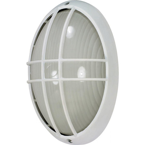 "Nuvo Lighting 1 Light 13"" Large Oval Cage Bulk Head Die Cast Bulk Head 60/528"