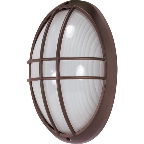 "Nuvo Lighting 1 Light 13"" Large Oval Cage Bulk Head Die Cast Bulk Head 60/529"