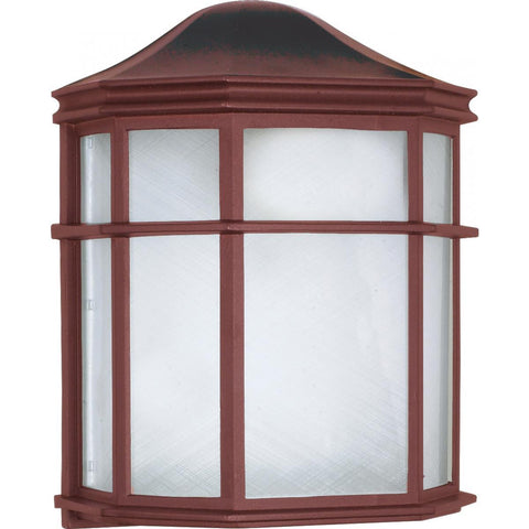 "Nuvo Lighting 1 Light 10"" Cage Lantern Wall Fixture Die Cast Linen Acrylic Lens 60/538"
