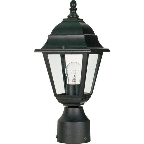 "Briton 14"" Post Lantern with Clear Glass Outdoor Nuvo Lighting"