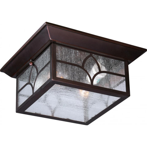 Nuvo Lighting Stanton 2 Light Outdoor Flush Fixture with Clear Seed Glass 60/5646