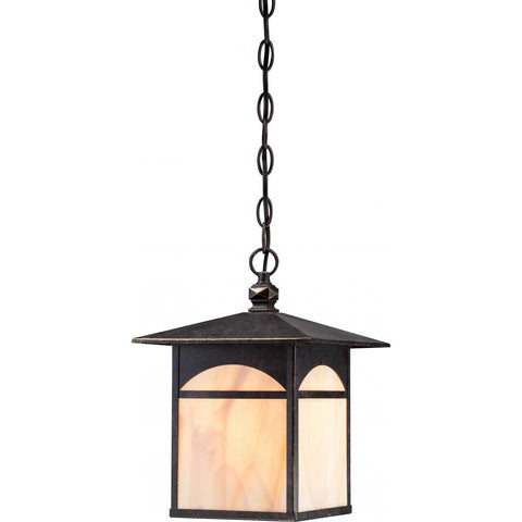 Nuvo Lighting Canyon 1 Light Outdoor Hanging Fixture with Honey Stained Glass 60/5654