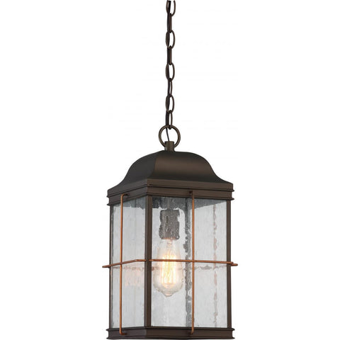Nuvo Lighting Howell 1 Light Outdoor Hanging Lantern with 60w Vintage Lamp Included Bronze with Copper Accents Finish 60/5836