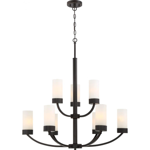 Shop all chandeliers ceiling lights dazzling spaces dazzling nuvo lighting denver 9 light chandelier fixture mahogany bronze finish 606329 mozeypictures Images