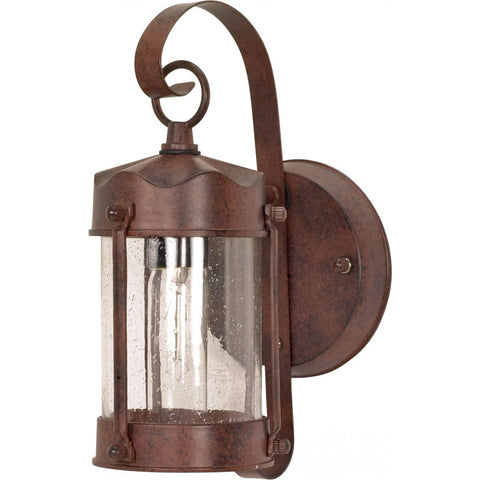 "Nuvo Lighting 1 Light 11"" Wall Lantern Piper Lantern with Clear Seed Glass 60/634"