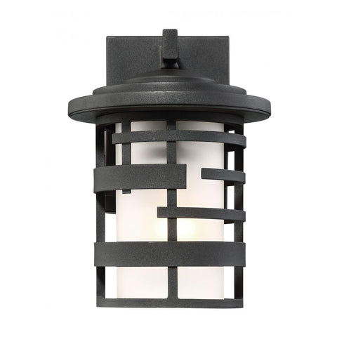 "Nuvo Lighting Lansing 1 Light 10"" Outdoor Wall Lantern With Etched Glass 60/6401"