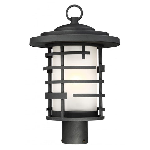 Nuvo Lighting Lansing 1 Light Outdoor Post Lantern With Etched Glass 60/6406