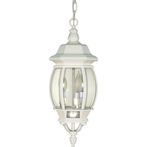 "Nuvo Lighting Central Park 3 Light 20"" Hanging Lantern with Clear Beveled Glass 60/894"