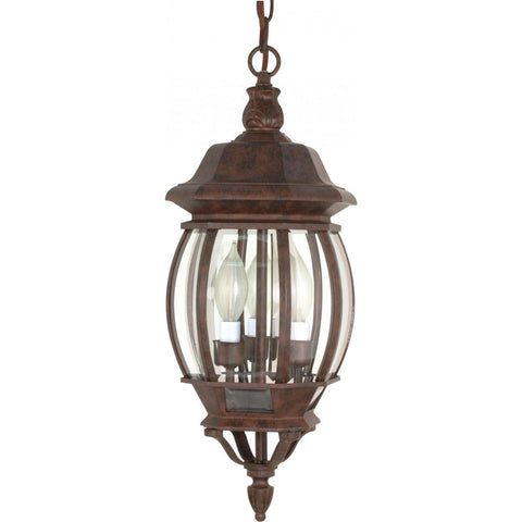"Nuvo Lighting Central Park 3 Light 20"" Hanging Lantern with Clear Beveled Glass 60/895"