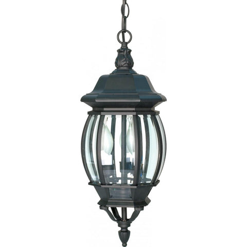 "Nuvo Lighting Central Park 3 Light 20"" Hanging Lantern with Clear Beveled Glass 60/896"