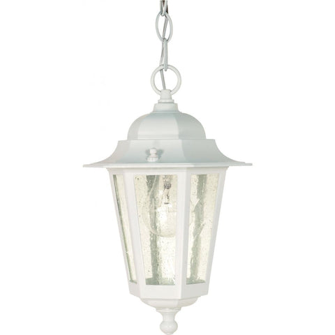 "Nuvo Lighting Cornerstone 1 Light 13"" Hanging Lantern with Clear Seed Glass 60/991"