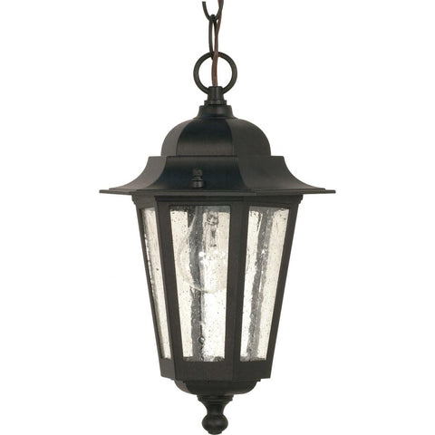 "Nuvo Lighting Cornerstone 1 Light 13"" Hanging Lantern with Clear Seed Glass 60/993"