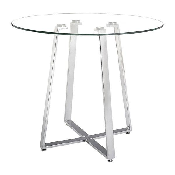 Lemon Drop Counter Table Chrome Furniture Zuo