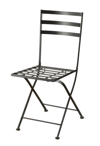 Black metal chair (2pk)
