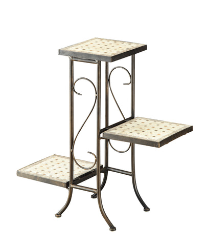3 Tier Travertine Plant Stand