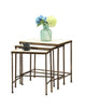 3 piece Travertine Nesting Tables