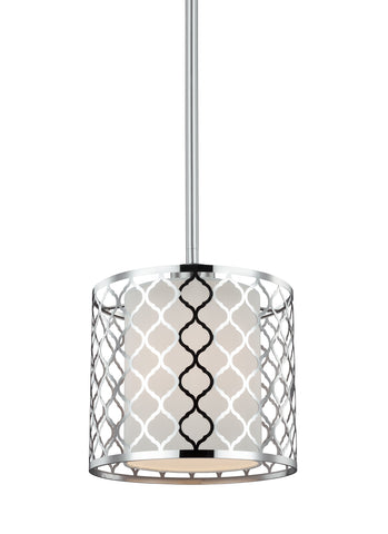 Jourdanton One Light Mini-Pendant - Brushed Nickel