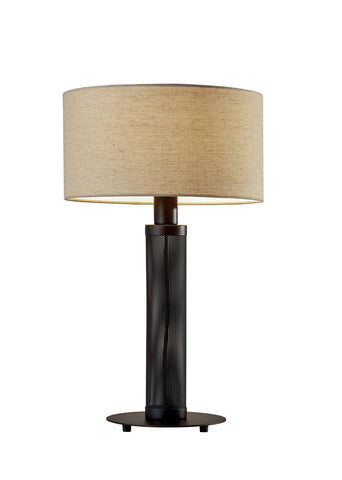 "Benjamin 25""h Black Table Lamp"
