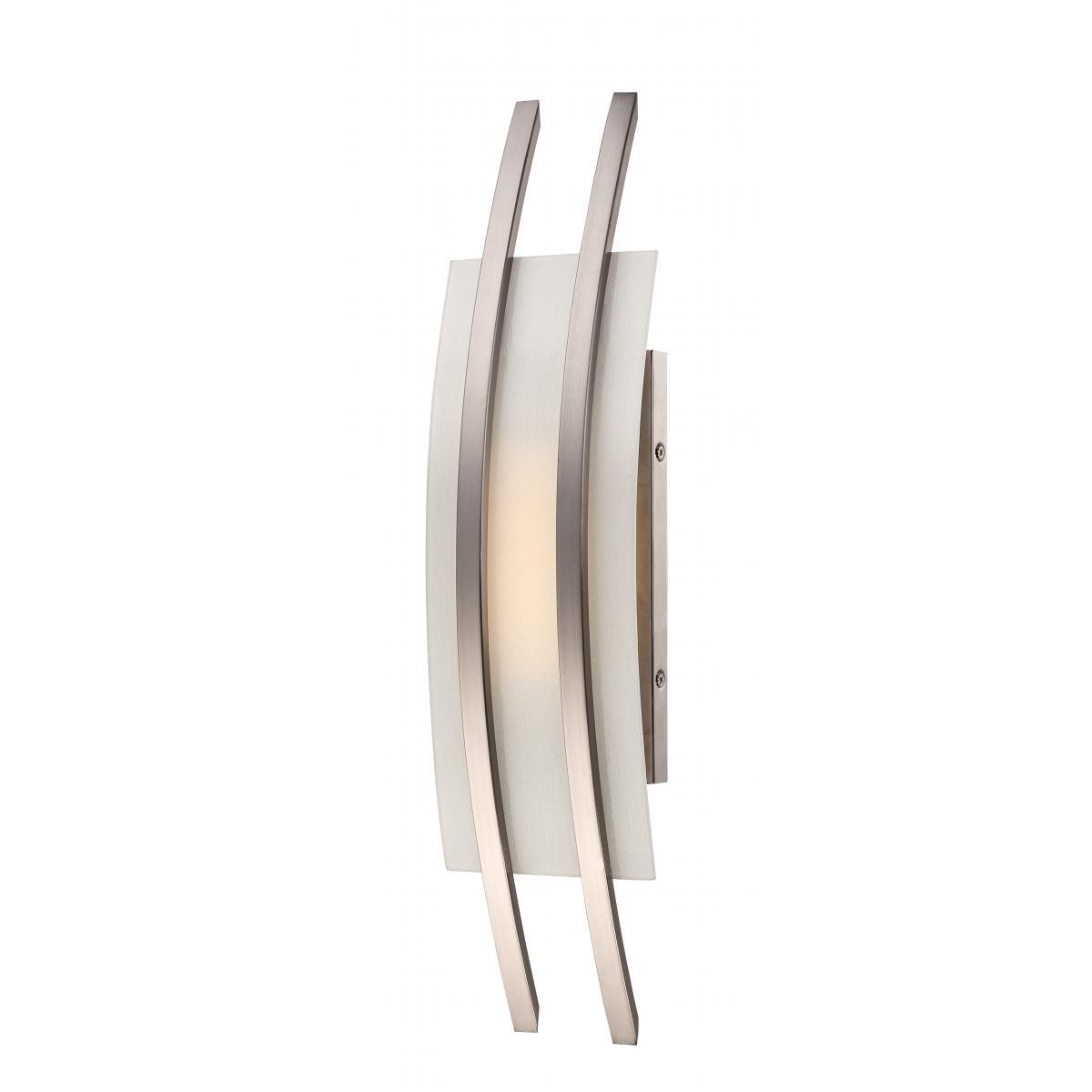 Trax 1 Module Wall Sconce with Frosted Glass Wall Nuvo Lighting