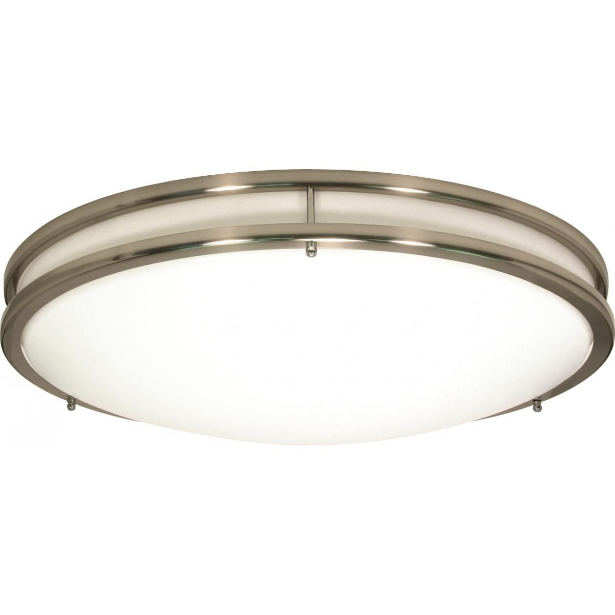 "Glamour LED 13"" Flush Mount Fixture Brushed Nickel Finish Lamps Included Ceiling Nuvo Lighting"