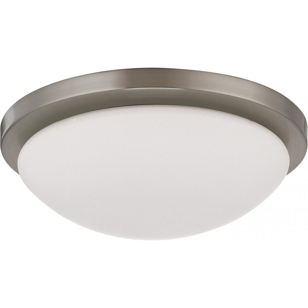 "Button LED 11"" Flush Mount Fixture Brushed Nickel Finish Lamps Included Ceiling Nuvo Lighting"