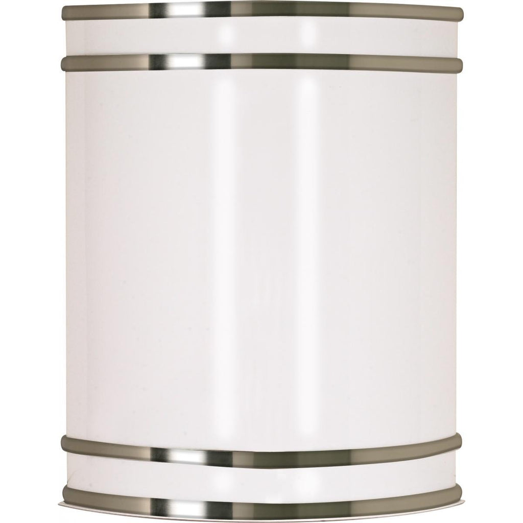 "Glamour LED 9"" Wall Sconce Brushed Nickel Finish Lamps Included Wall Nuvo Lighting"