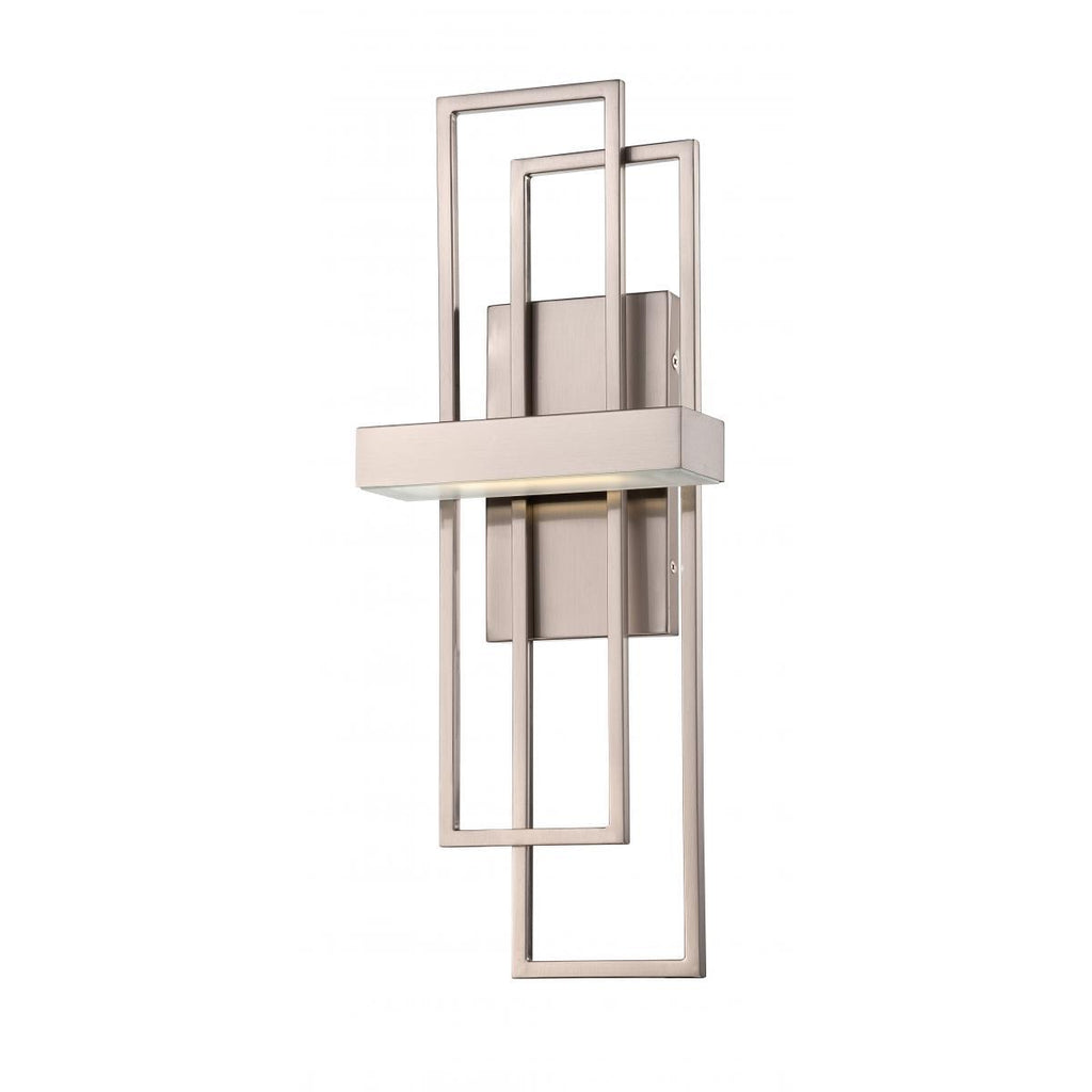 Frame LED Wall Sconce with Frosted Glass Wall Nuvo Lighting