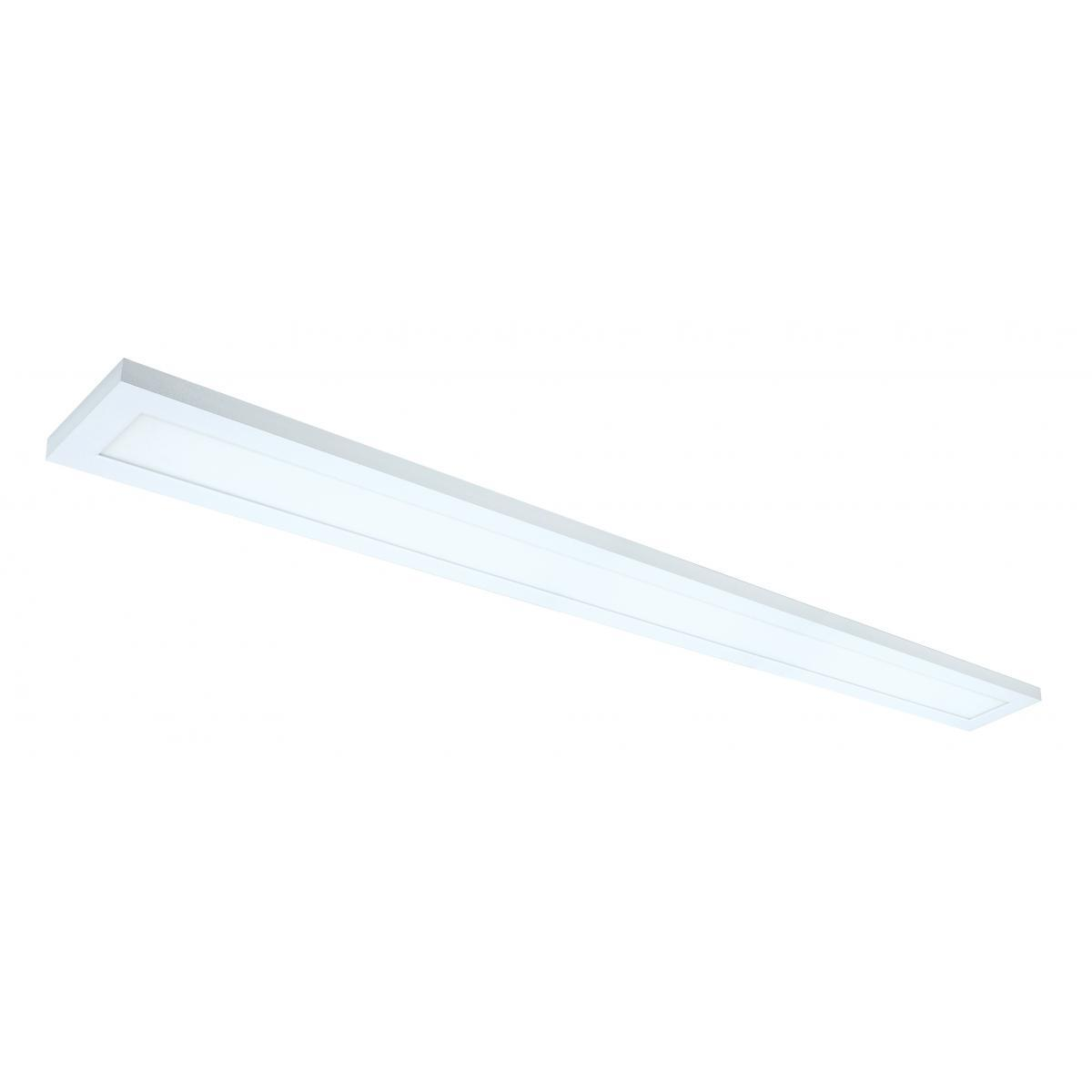 "40 Watt 5"" x 48"" Surface Mount LED Fixture 5000K 80 CRI Low Profile White Finish 120/277 Volts Ceiling Nuvo Lighting"