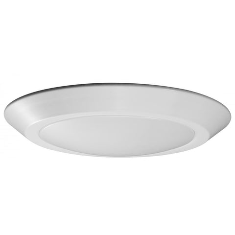 "10"" LED Flush Mount Fixture Disk Light White Finish 3000K"