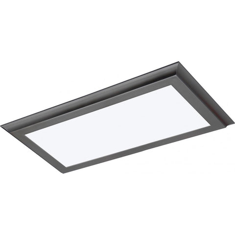 "22W 12""x24"" Surface Mount LED Fixture - 3K - Gun Metal - 100-277V"