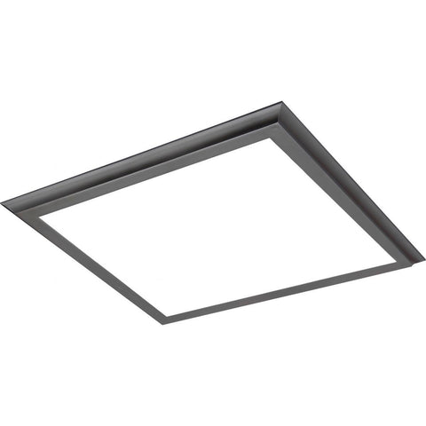"45W 24""x24"" Surface Mount LED Fixture - 3K - Gun Metal - 100-277V"