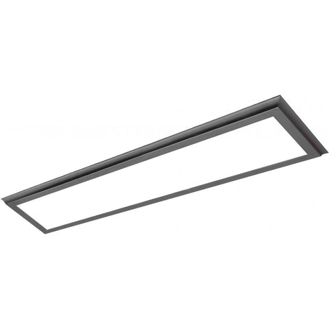 "45W 12""x48"" Surface Mount LED Fixture - 3K - Gun Metal - 100-277V"