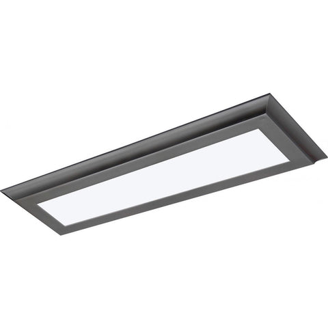 "22W 5""x24"" Surface Mount LED Fixture - 3K - Gun Metal - 100-277V"
