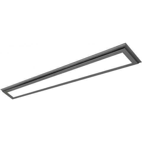 "40W 5""x48"" Surface Mount LED Fixture - 3K - Gun Metal - 100-277V"