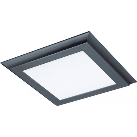 "18W 12""x12"" Surface Mount LED Fixture - 3K - Bronze - 120-277V"