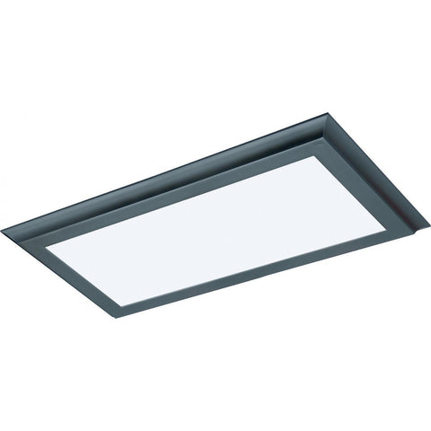 "22W 12""x24"" Surface Mount LED Fixture - 3K - Bronze - 120-277V"