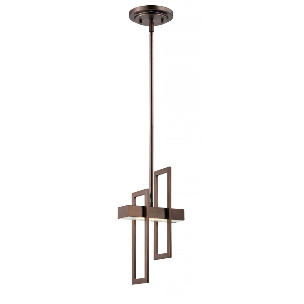 Frame 1 Module Pendant with Frosted Glass Ceiling Nuvo Lighting