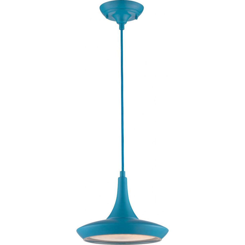 "Fantom 11""w LED Colored Pendant - Blue Ceiling Nuvo Lighting"