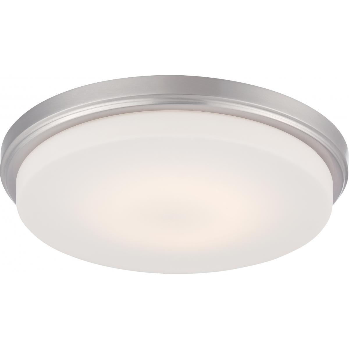Dale LED Flush Fixture with Opal Frosted Glass Ceiling Nuvo Lighting
