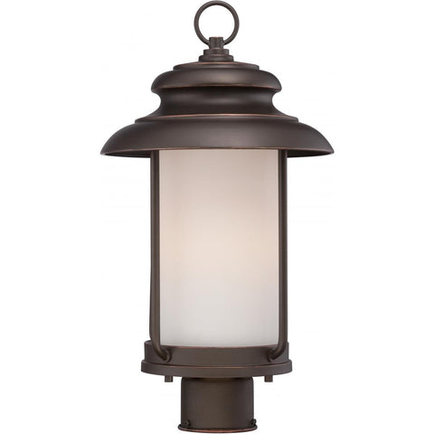 Bethany LED Outdoor Post with Satin White Glass Outdoor Nuvo Lighting