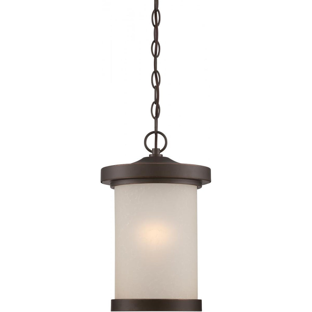 Diego LED Outdoor Hanging with Satin Amber Glass Outdoor Nuvo Lighting