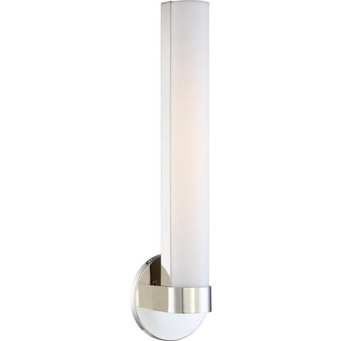 "Bond 19-1/2"" LED Polished Nickel Sconce/Vanity Light"