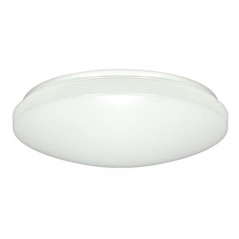 "11"" Flush Mounted LED Light Fixture - White - With Occ Sensor - 120-277V"
