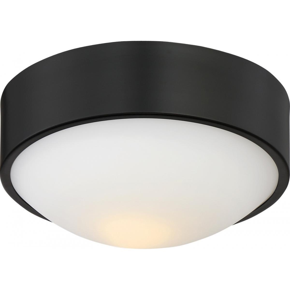 "Perk 9"" LED Flush with White Glass Ceiling Nuvo Lighting"